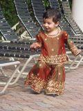 Wearing a gharara