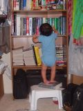 Tightly-packed books won't budge