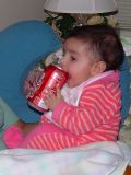 Another Coke drinker in the family